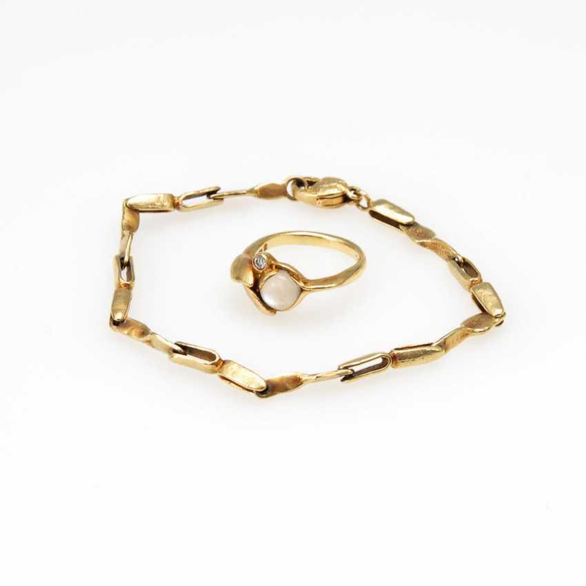 2 piece Designer jewelry set with moon - photo 1
