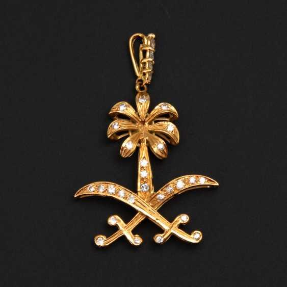 Icon pendant with brilliant-cut diamonds. - photo 1
