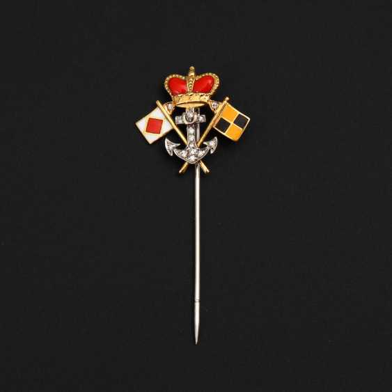Maritime Lapel pin with diamonds and - photo 1