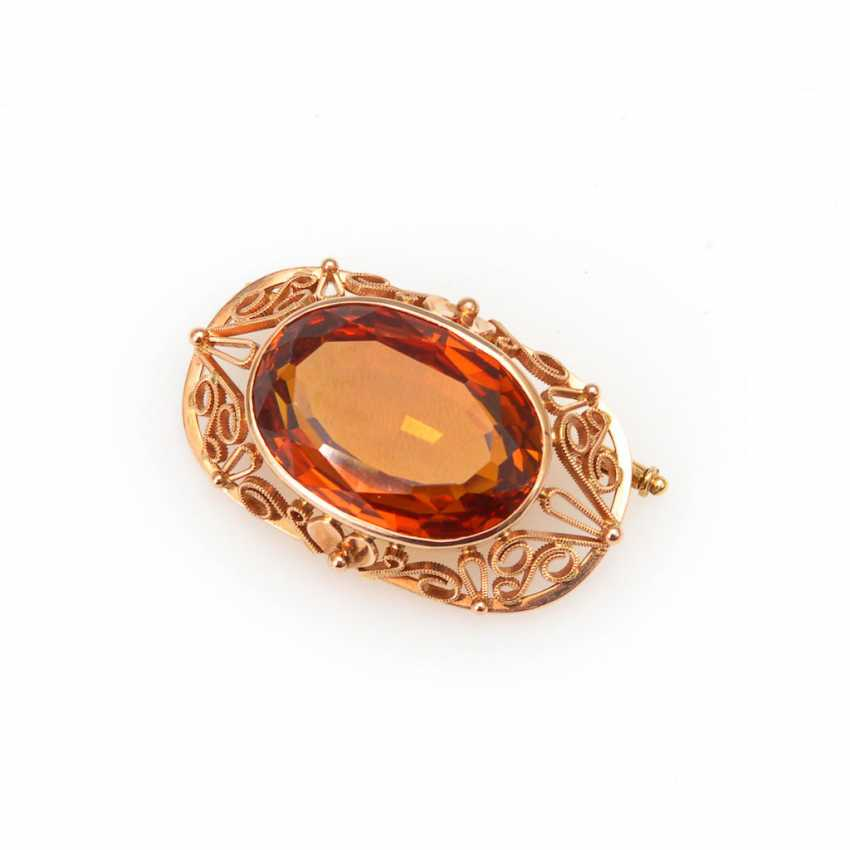 Brooch with citrine. - photo 1