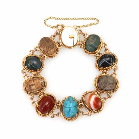Egyptian bracelet with scarabs and v - photo 1