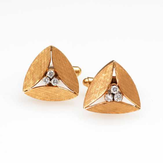 Cufflink Pair, with diamonds. - photo 1