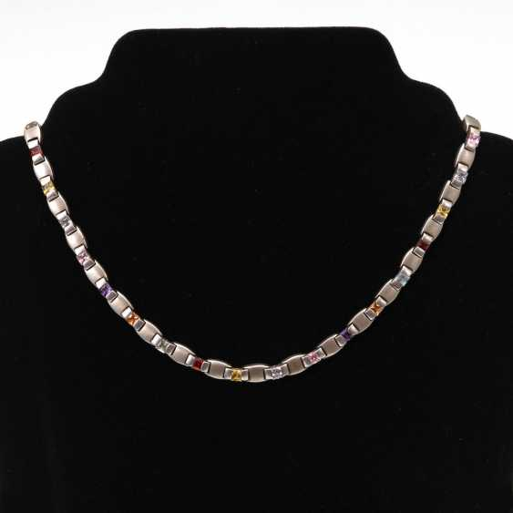Modern necklace with colored stones. - photo 1