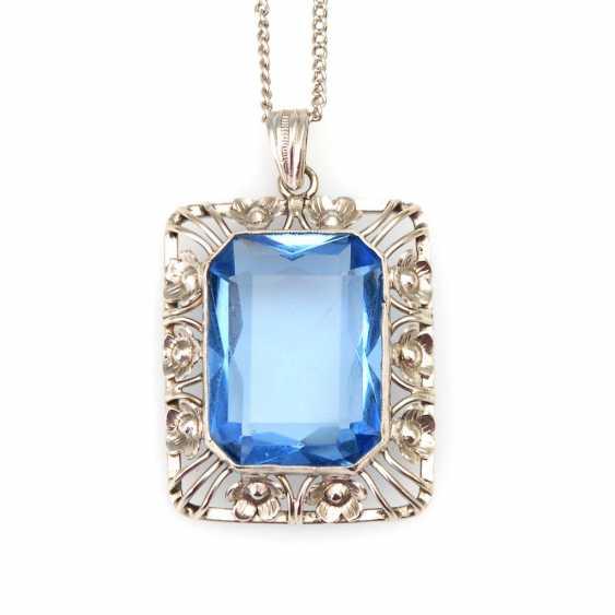Large pendant with blue Imitation of - photo 1