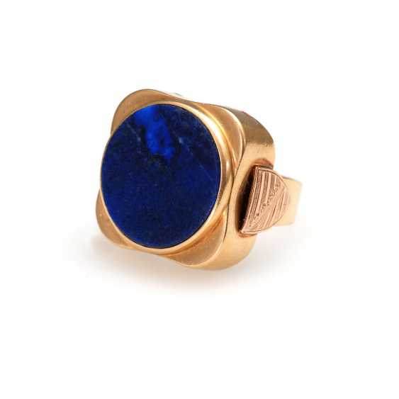 Men's ring with lapis lazuli. - photo 1