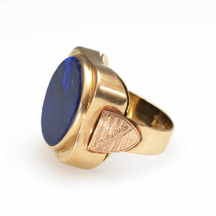 Men's ring with lapis lazuli. - photo 2