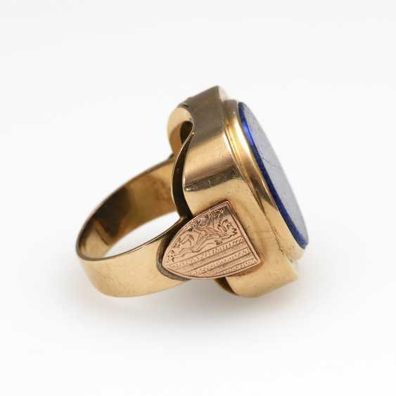 Men's ring with lapis lazuli. - photo 3