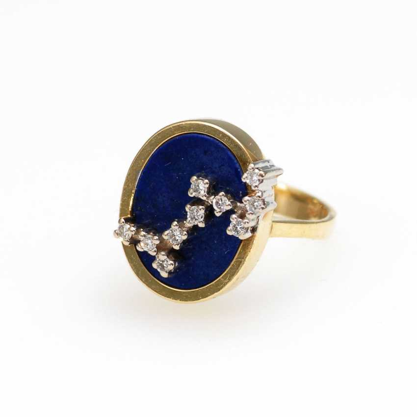 Modern Ring with lapis lazuli and Brill - photo 1