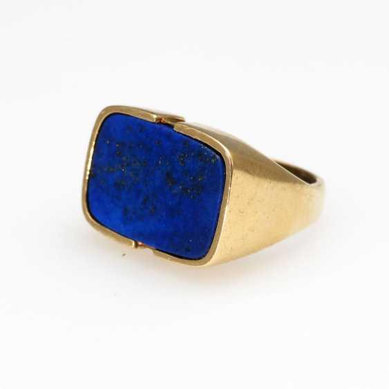 Ring with lapis lazuli. - photo 1