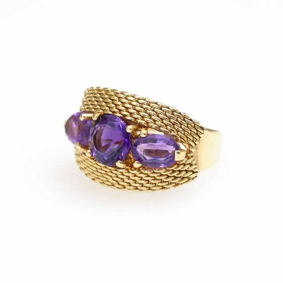 Ring with amethysts. - photo 1