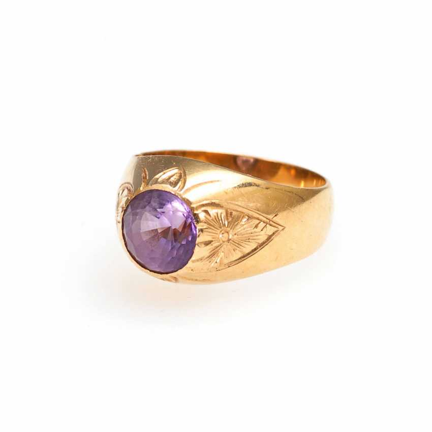 Ladies ring with Amethyst. - photo 1
