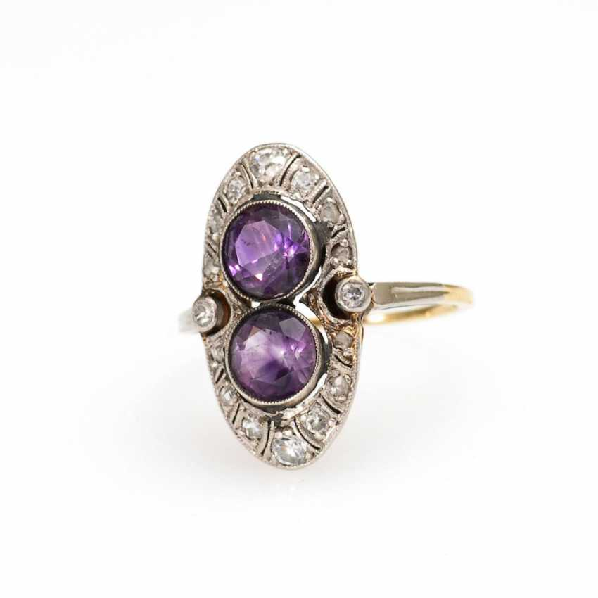 Art-Deco-Ring with amethysts and Altsch - photo 1