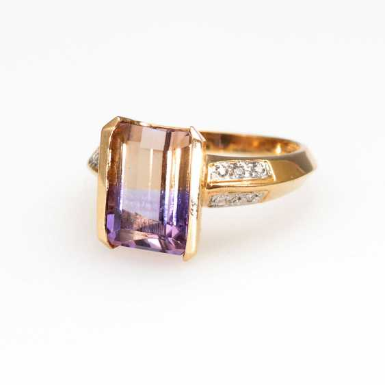 Modern Ring with rare Ametrine and - photo 1