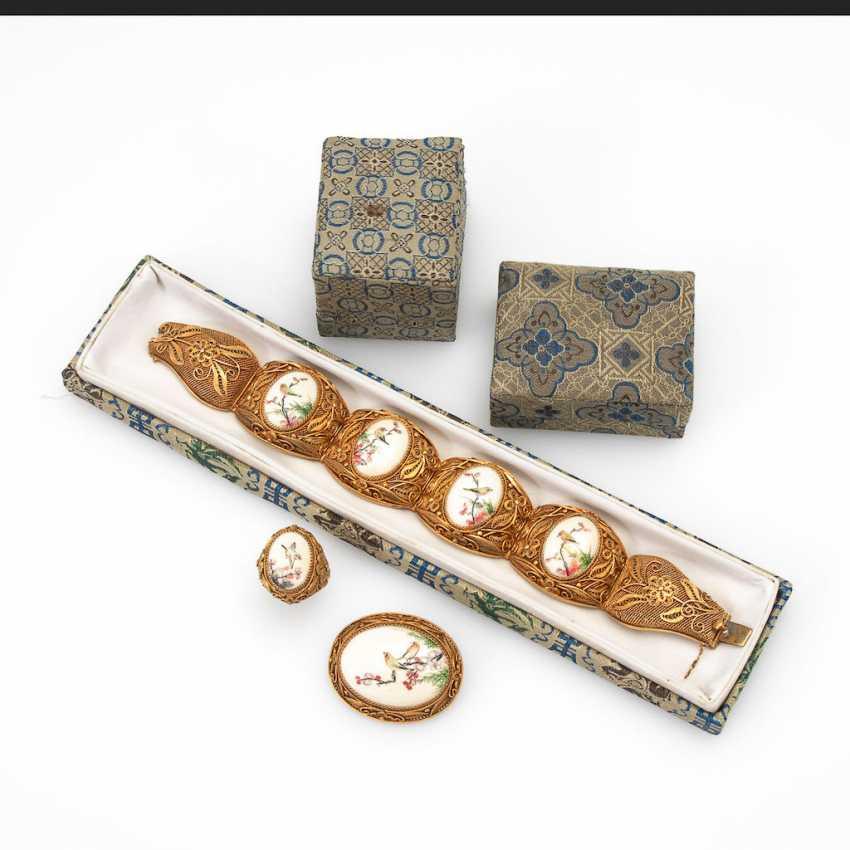 Asian, 3-piece jewelry set with - photo 1