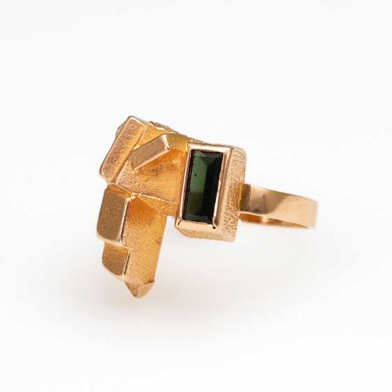 "Designer-Ring ""LAPPONIA"" with a green Ste - photo 1"