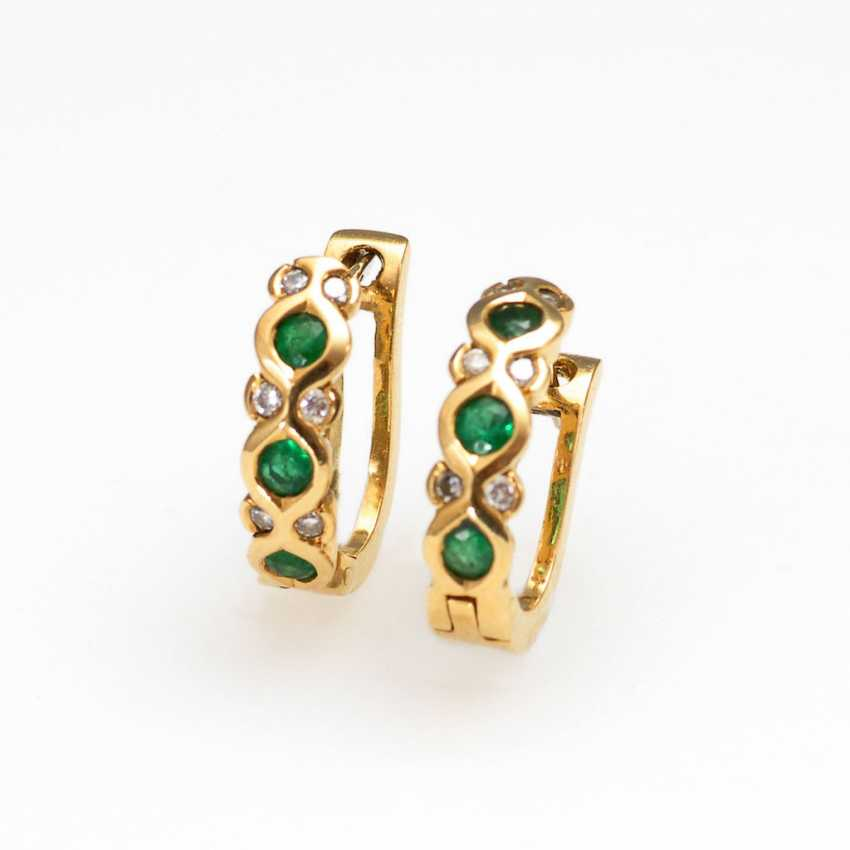 Stud earrings pair with emeralds and Brilla - photo 1