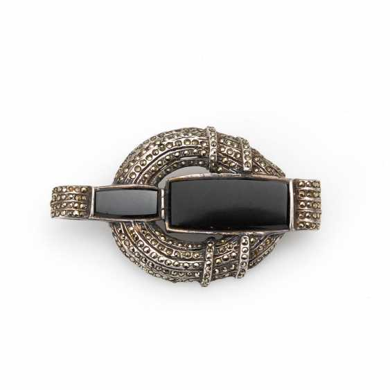 Brooch with Onyx and vintage solid. - photo 1