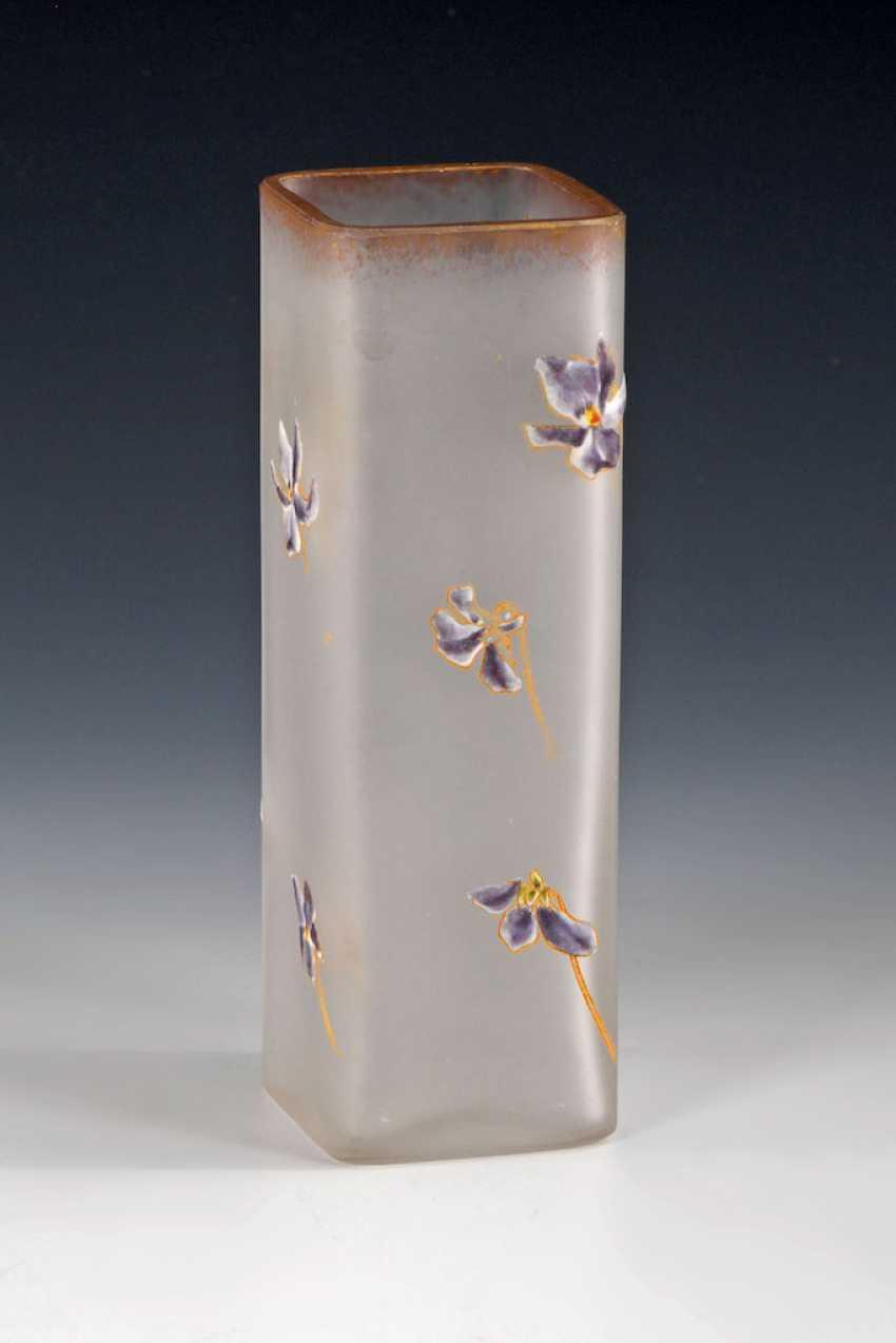 Art Nouveau Vase with enamel painting, LEGRA - photo 1