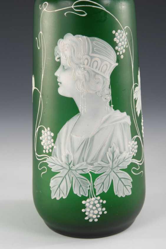 Art Nouveau Vase with snow painting. - photo 2