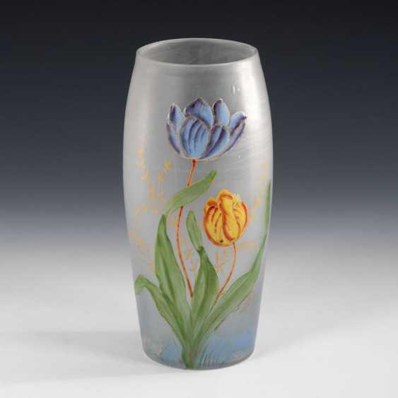 Art Nouveau Vase with enamel painting. - photo 1