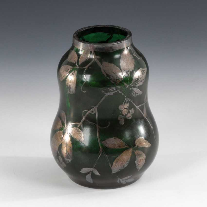 Vase with silver painting, CARL GOLDBERG. - photo 1