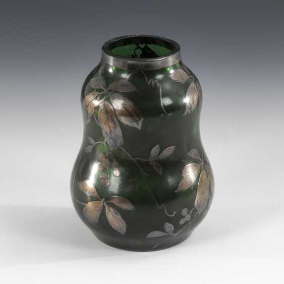 Vase with silver painting, CARL GOLDBERG. - photo 2
