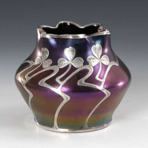 Art Nouveau Vase with silver overlay. - photo 1