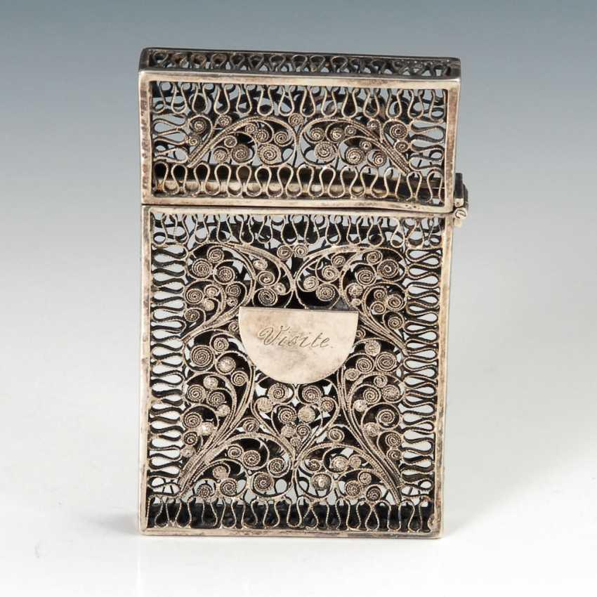 Silberfiligran Visitenkartenetui Auktionskatalog 94