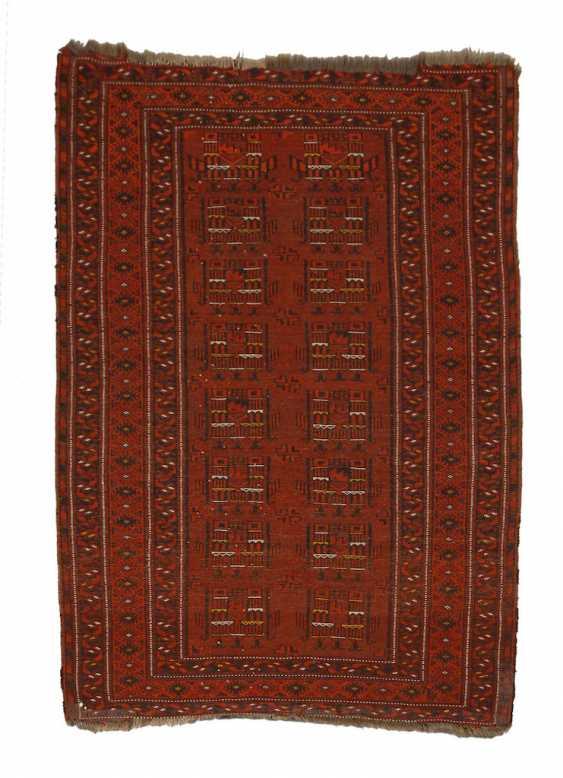 Turkmen carpet with house motifs, - photo 1