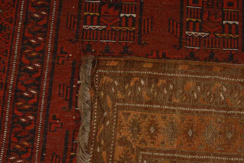 Turkmen carpet with house motifs, - photo 2
