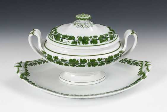 Tureen with under tray/plate, MEISSEN - photo 1
