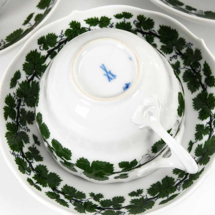 6 place settings with vine leaf decoration, MEISSEN. - photo 2