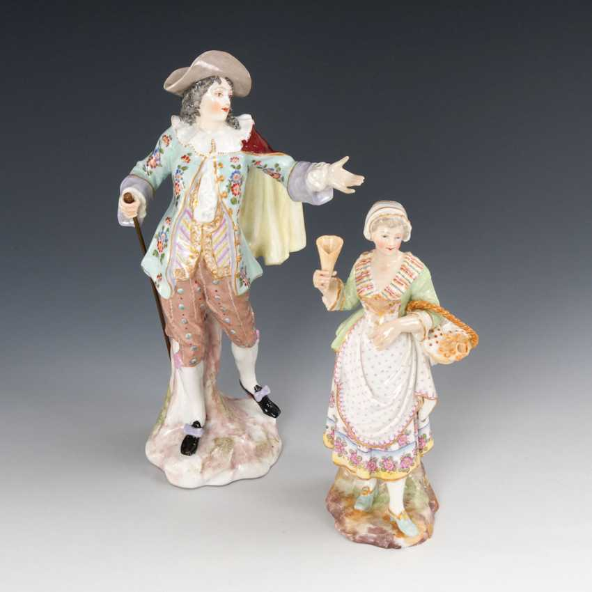 Cavalier and lady, with waffle, SAMSON. - photo 1