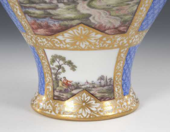 Cover vase with four field painting, HELEN - photo 2