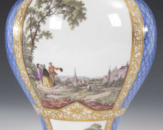 Cover vase with four field painting, HELEN - photo 3
