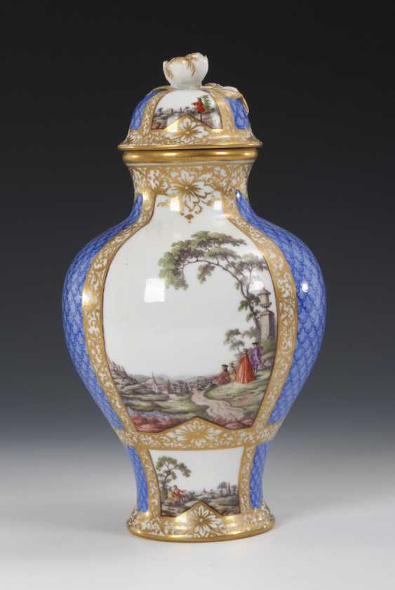 Cover vase with four field painting, HELEN - photo 4