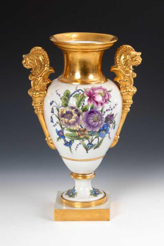 Ornamental vase with flowers painting, OLDEST V - photo 1