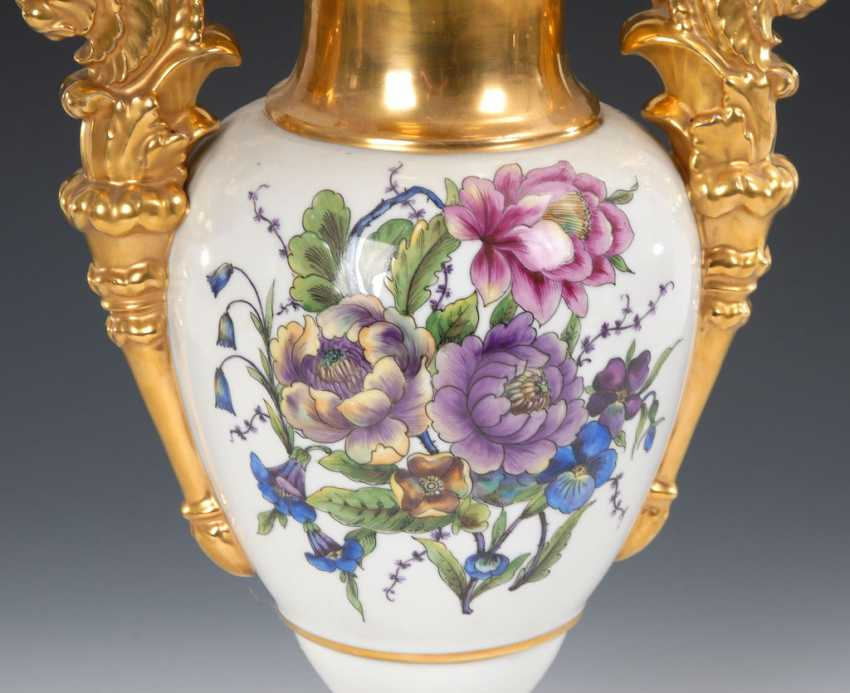 Ornamental vase with flowers painting, OLDEST V - photo 2