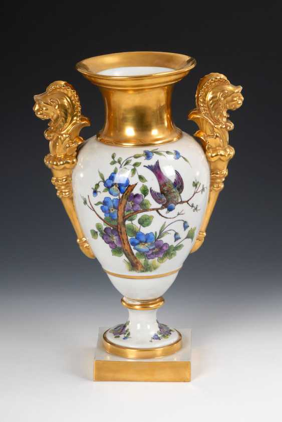 Ornamental vase with flowers painting, OLDEST V - photo 3