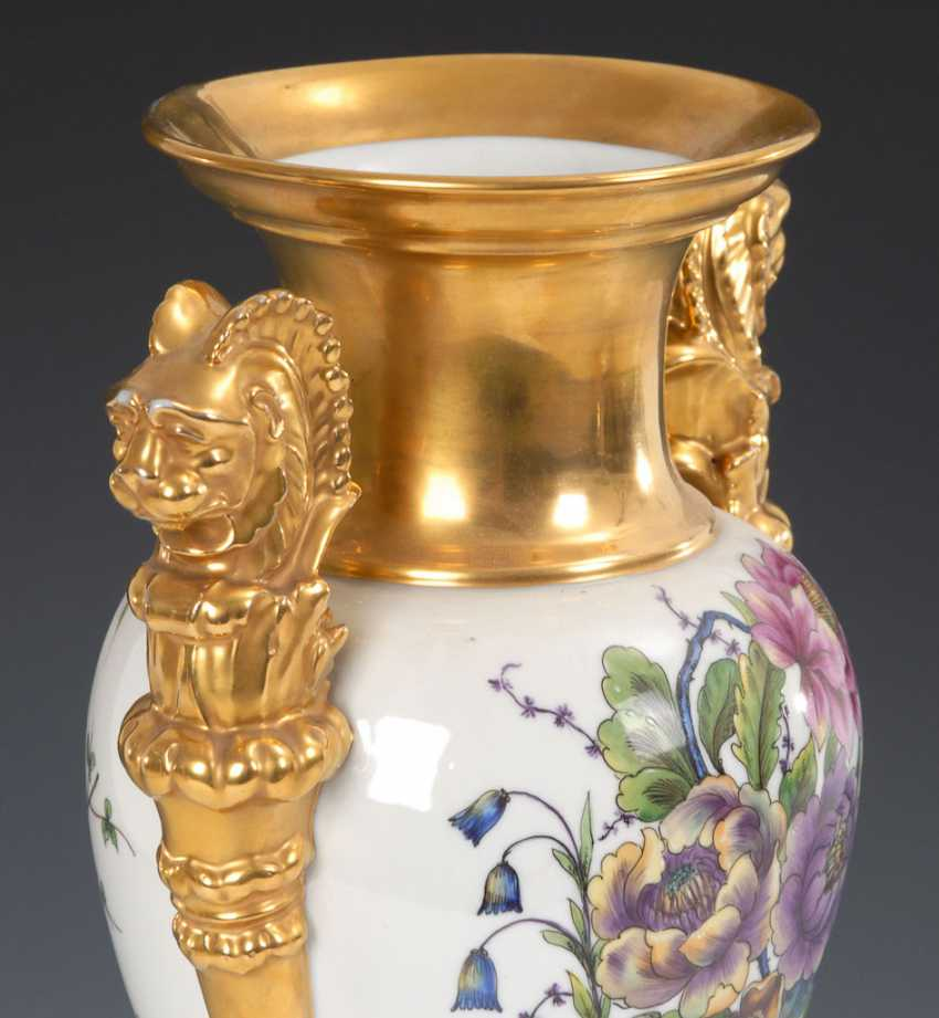 Ornamental vase with flowers painting, OLDEST V - photo 4