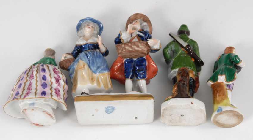 2 miniature Rococo figures, hunters, and Kin - photo 2