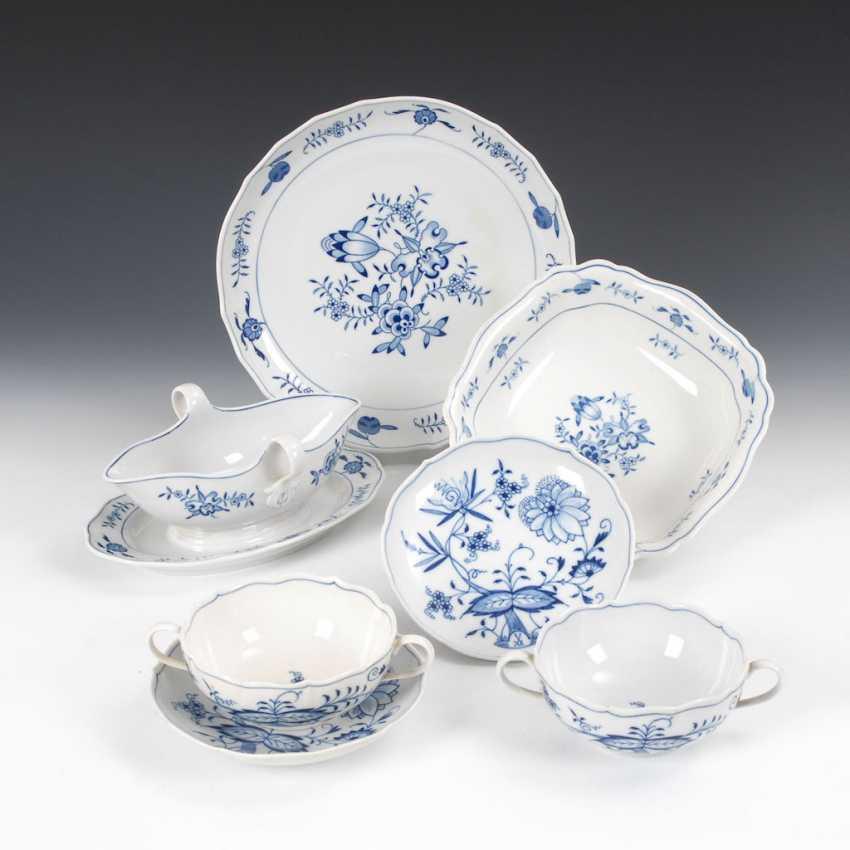 7 parts onion pattern-porcelain, MEISSE - photo 1