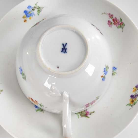 Coffee service with scattered flowers painting, - photo 2