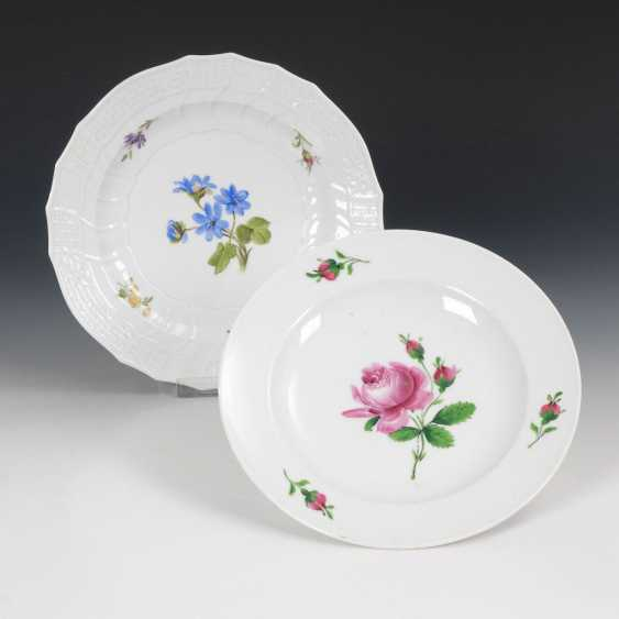 2 plates with flower painting, MEISSEN. - photo 1