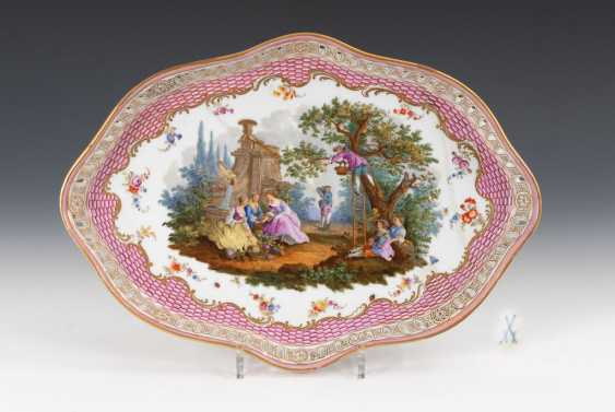 Tray with Watteau painting, MEISSEN. - photo 1