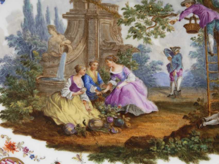 Tray with Watteau painting, MEISSEN. - photo 2