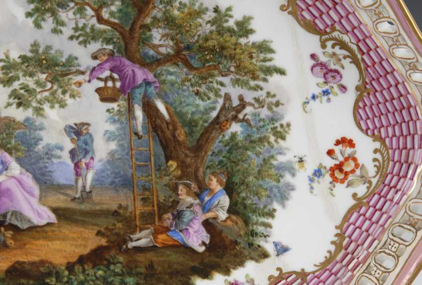 Tray with Watteau painting, MEISSEN. - photo 3