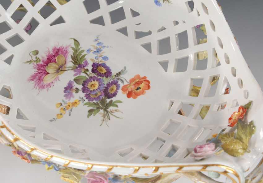 Breakthrough basket with flower lining, MEISSEN - photo 2