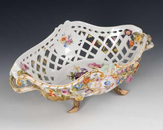 Breakthrough basket with flower lining, MEISSEN - photo 4