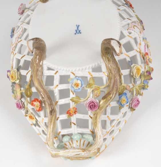 Breakthrough basket with flower lining, MEISSEN - photo 6